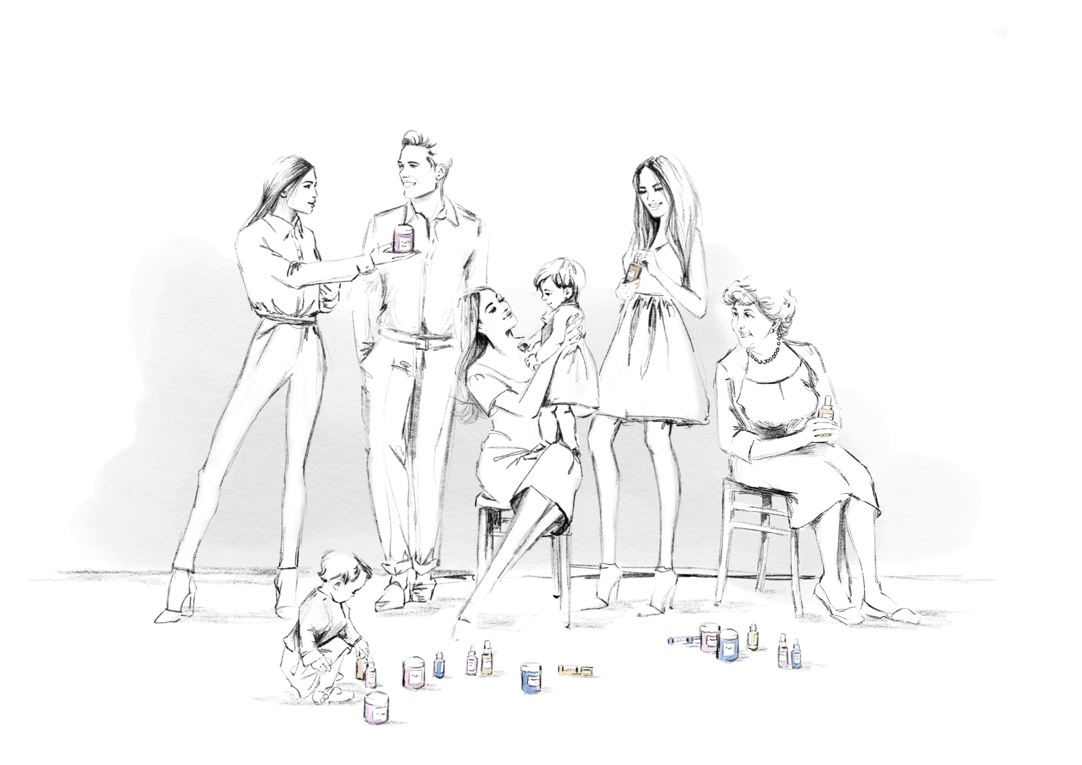 Ladyganics beauty product illustrations //nadinebatista.de
